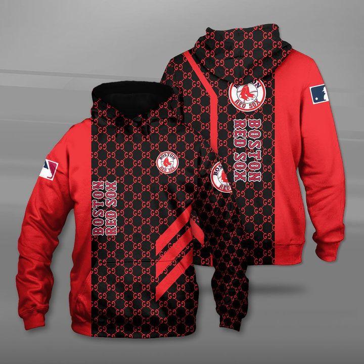 Major league baseball boston red sox full printing hoodie