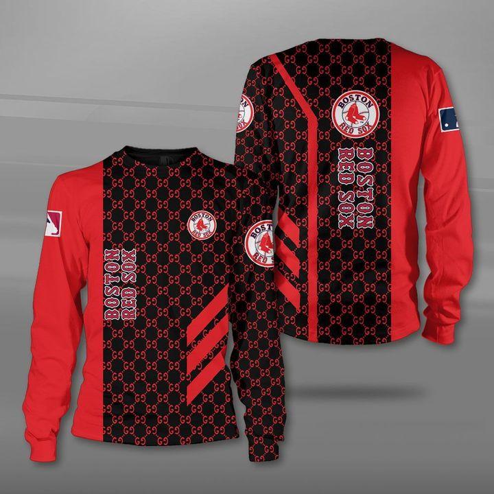 Major league baseball boston red sox full printing sweatshirt