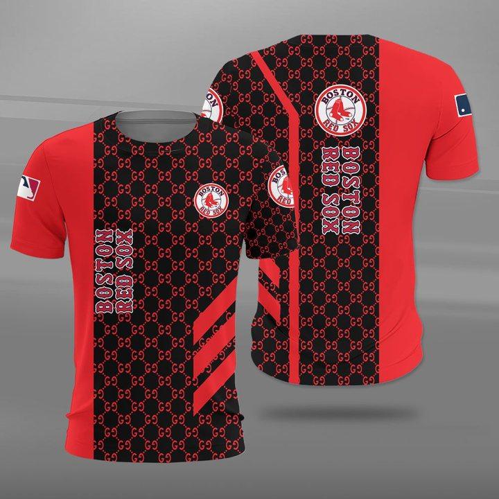 Major league baseball boston red sox full printing tshirt
