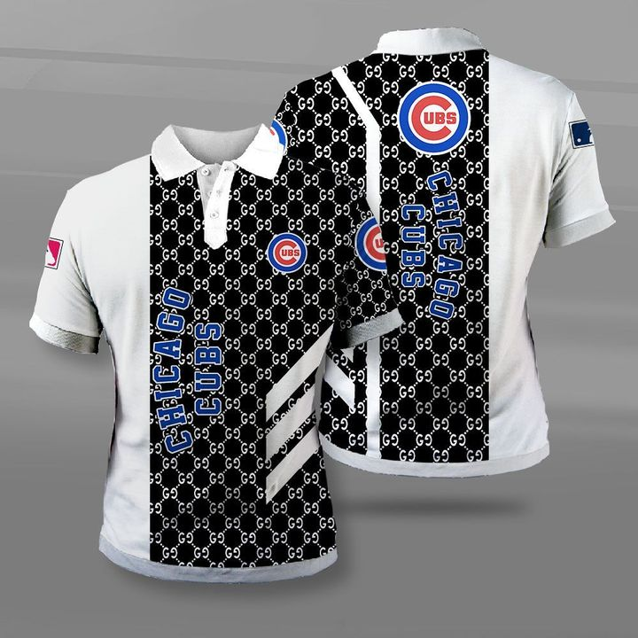 Major league baseball chicago cubs full printing polo
