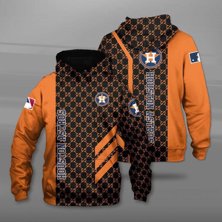 Major league baseball houston astros full printing hoodie