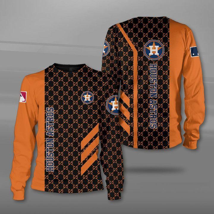 Major league baseball houston astros full printing sweatshirt