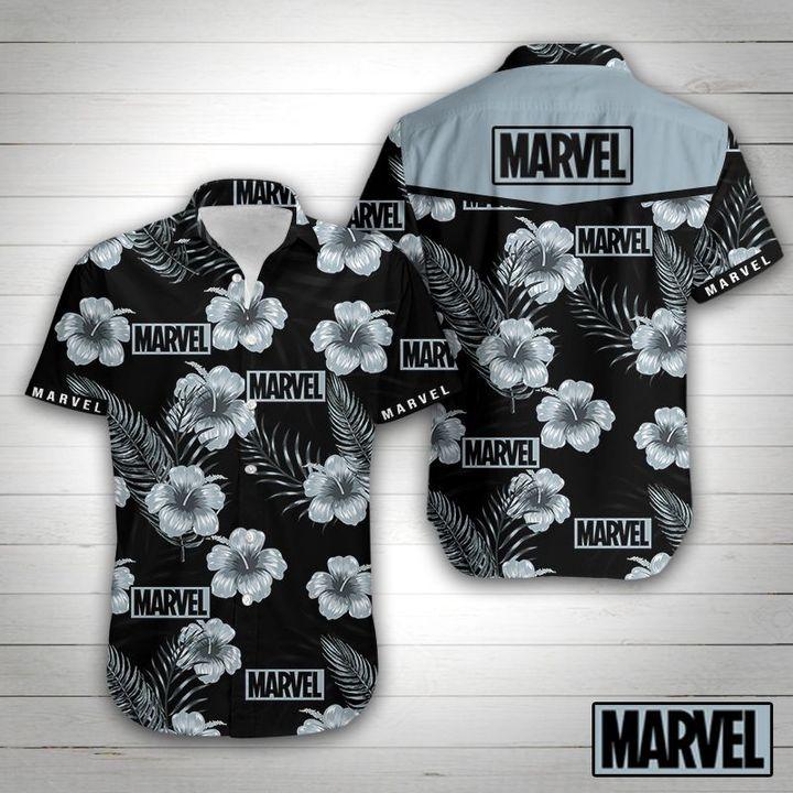 Marvel tropical flower hawaiian shirt 3