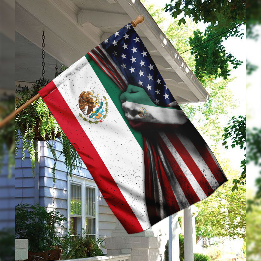 Mexican 4th of july american flag 2