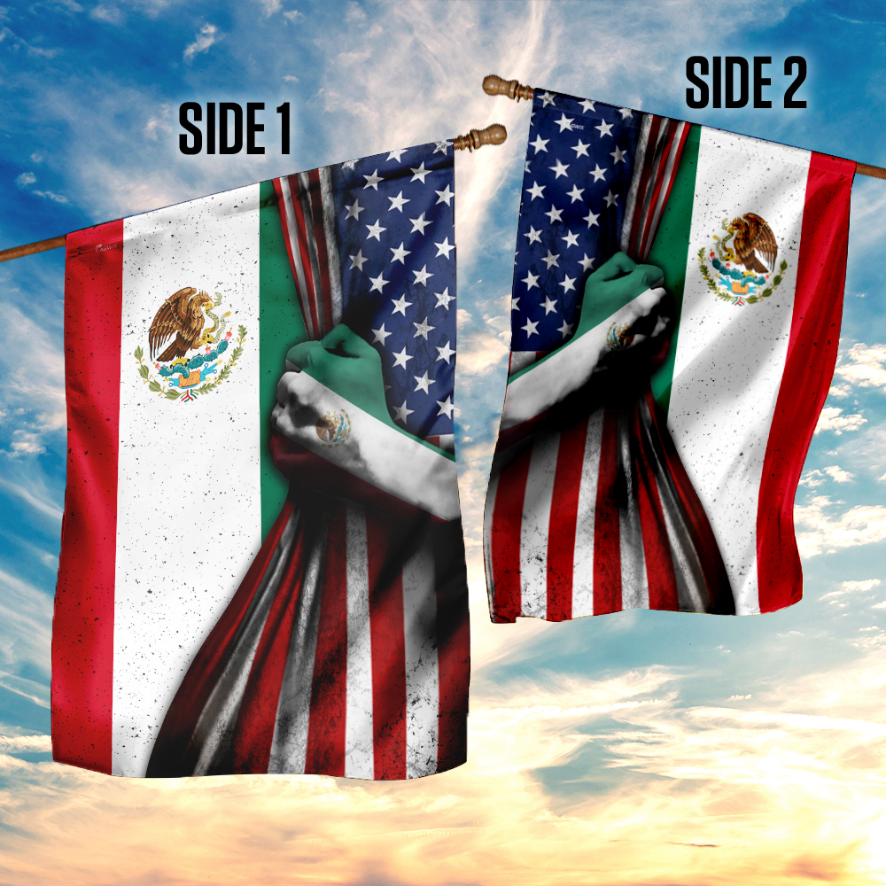 Mexican 4th of july american flag 4