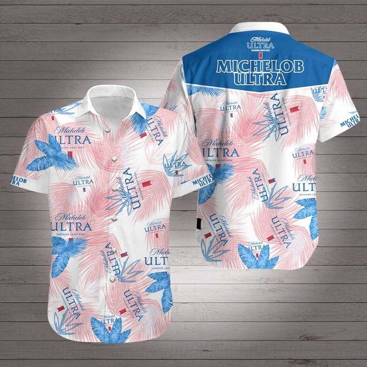 Michelob ultra beer hawaiian shirt 4