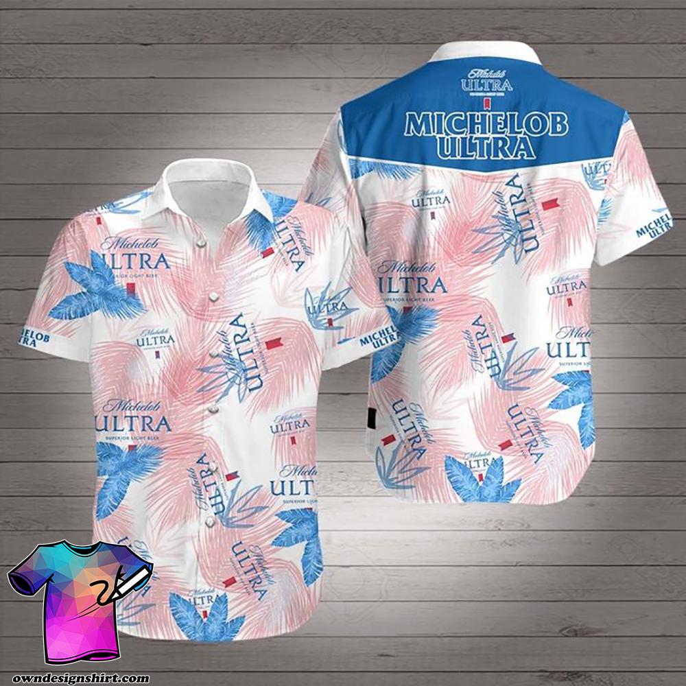 Michelob ultra beer hawaiian shirt