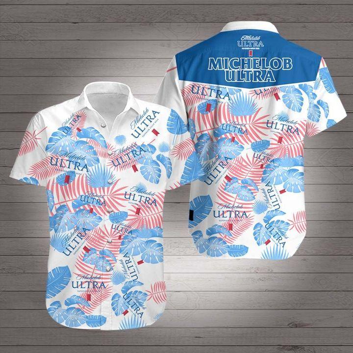Michelob ultra light beer hawaiian shirt 3