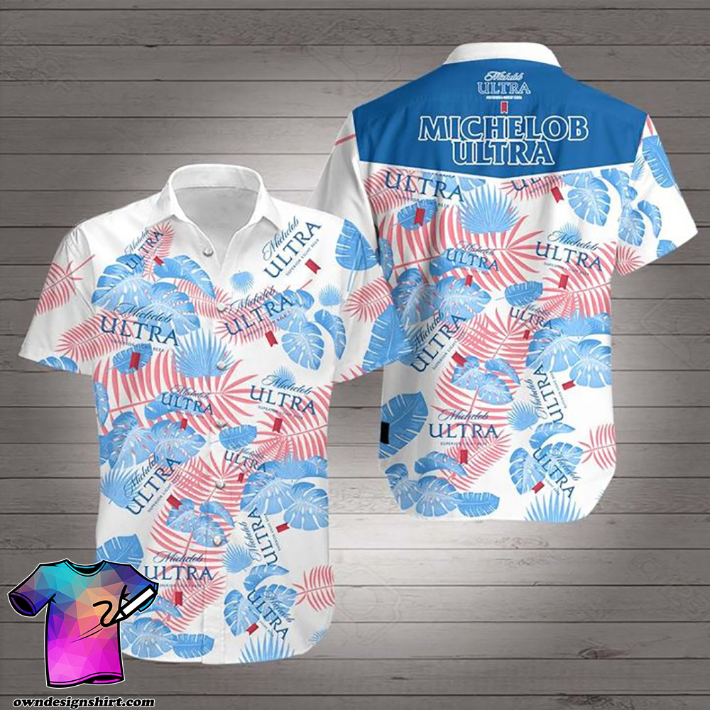 Michelob ultra light beer hawaiian shirt