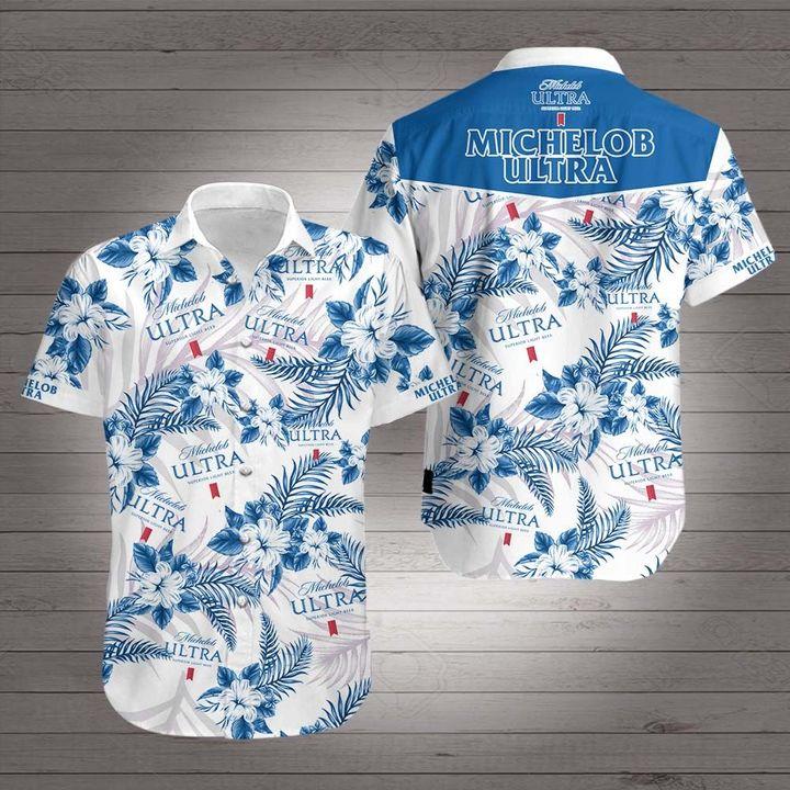 Michelob ultra superior light beer hawaiian shirt 3