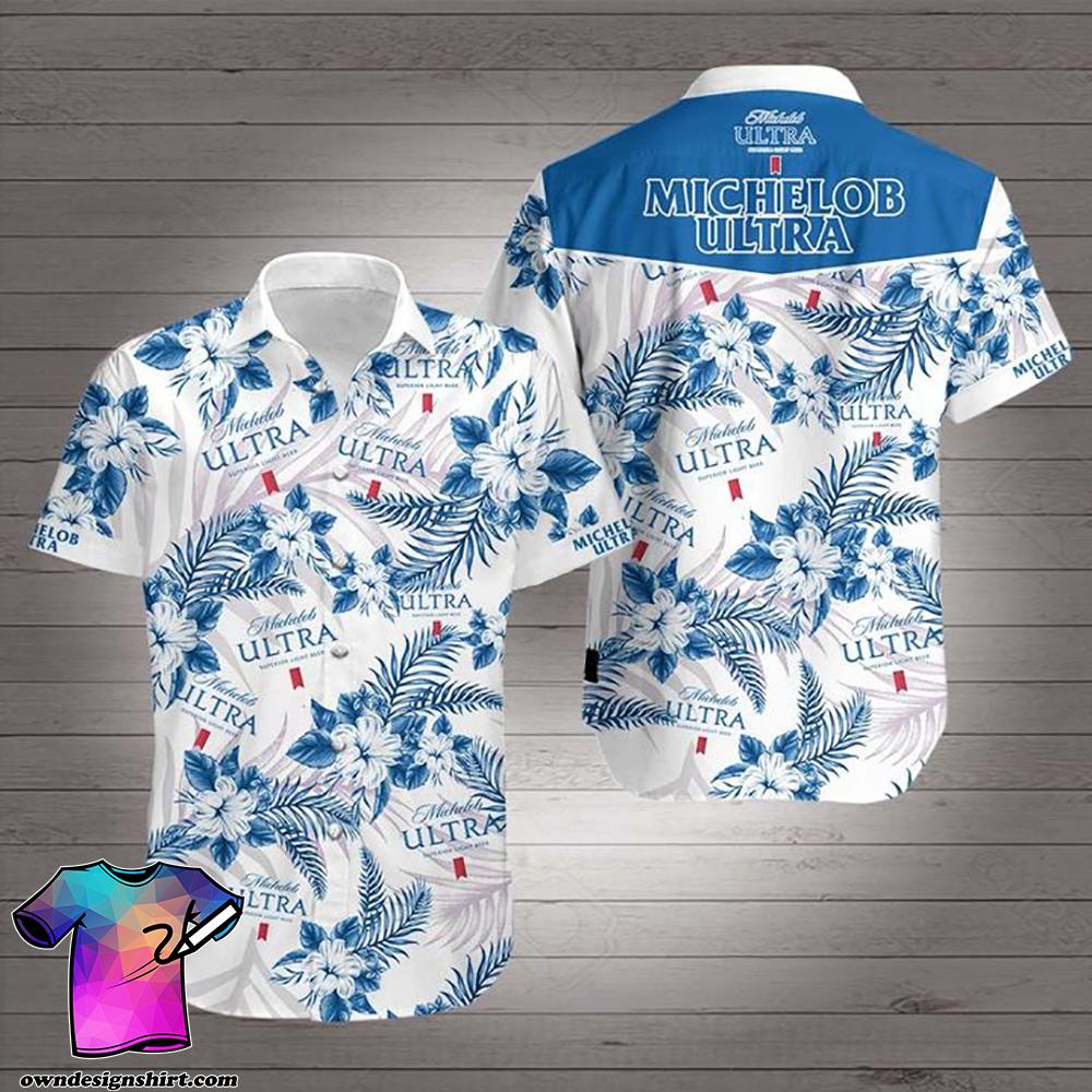Michelob ultra superior light beer hawaiian shirt