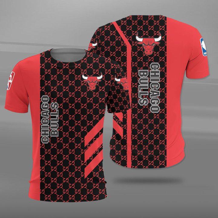 NBA chicago bulls full printing tshirt