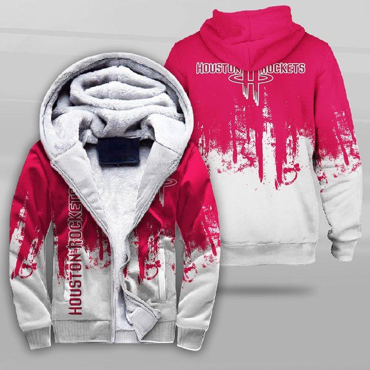 NBA houston rockets full printing fleece hoodie