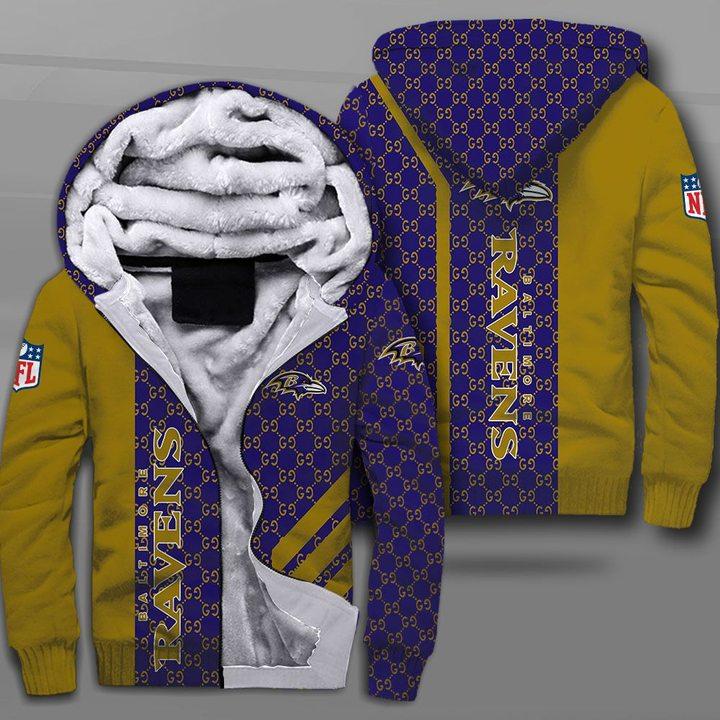 NFL baltimore ravens full printing fleece hoodie