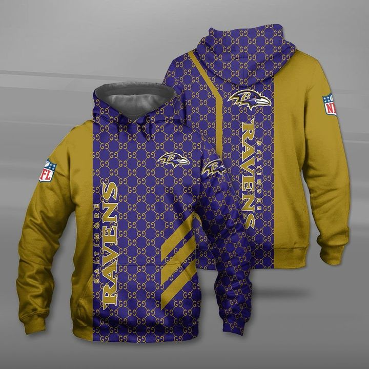NFL baltimore ravens full printing hoodie