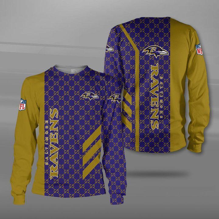 NFL baltimore ravens full printing sweatshirt