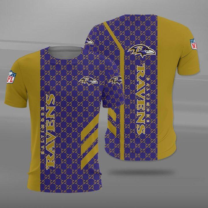 NFL baltimore ravens full printing tshirt