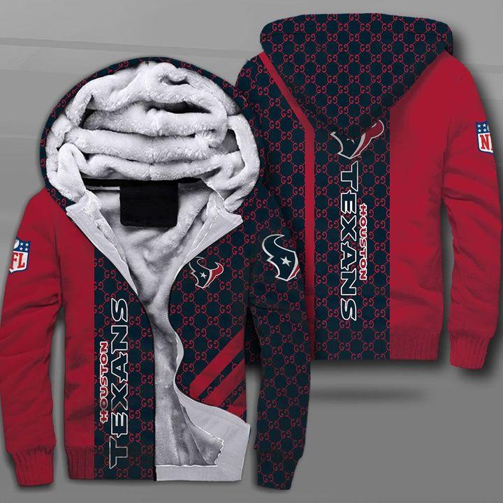 NFL houston texans full printing fleece hoodie