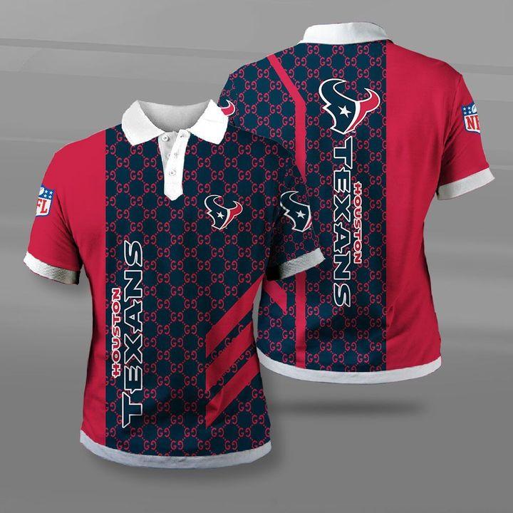 NFL houston texans full printing polo