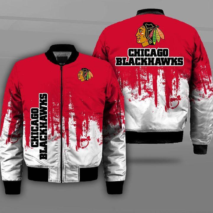 NHL chicago blackhawks full printing bomber