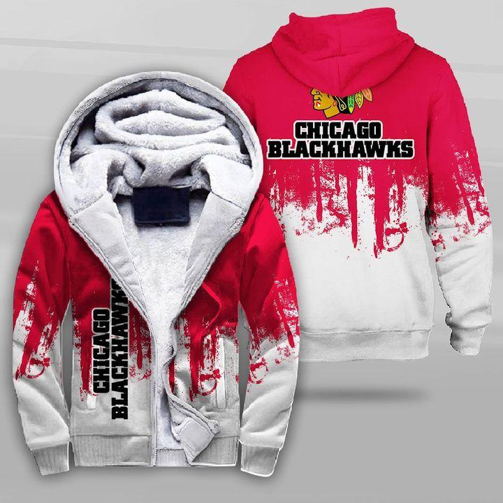NHL chicago blackhawks full printing fleece hoodie