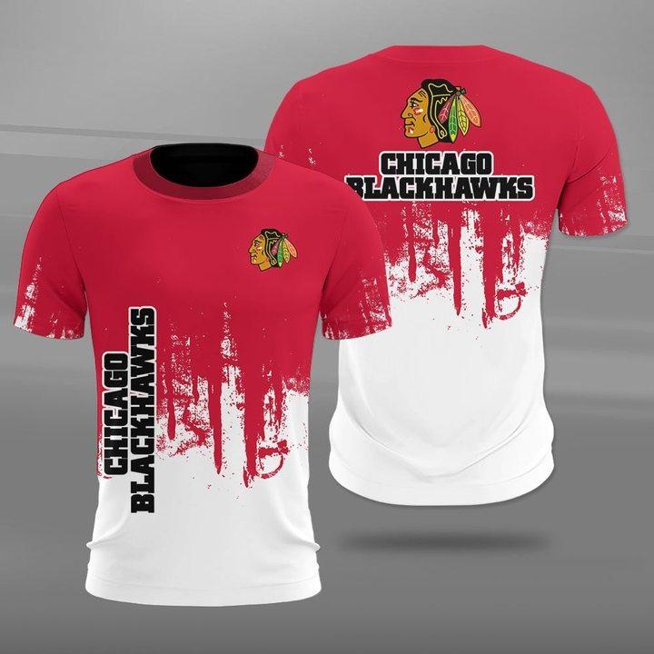 NHL chicago blackhawks full printing tshirt