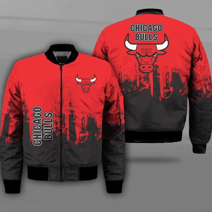 National basketball association chicago bulls full printing bomber