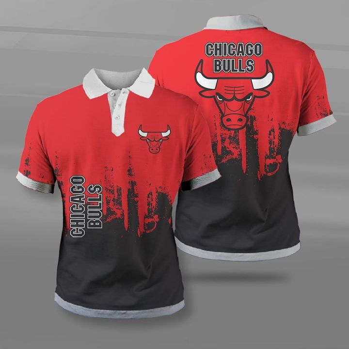 National basketball association chicago bulls full printing polo