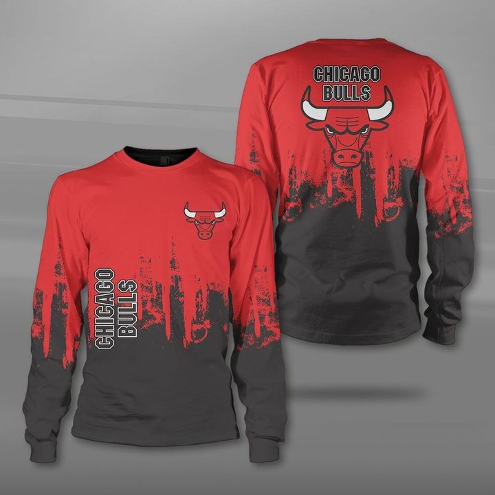 National basketball association chicago bulls full printing sweatshirt