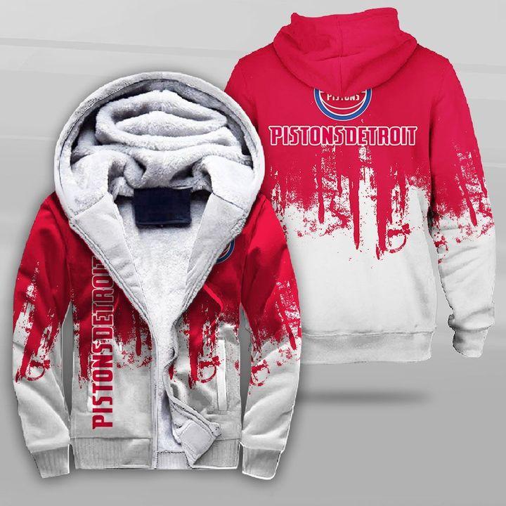National basketball association detroit pistons full printing fleece hoodie