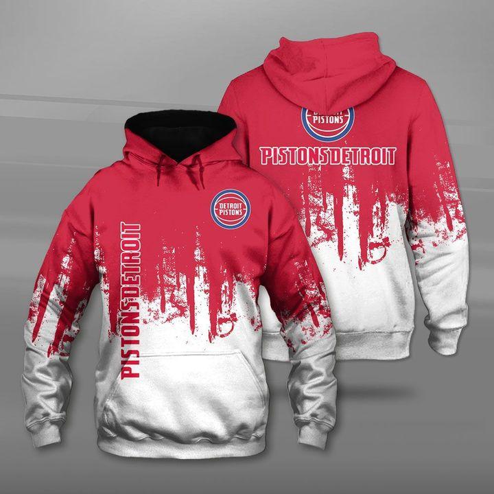 National basketball association detroit pistons full printing hoodie