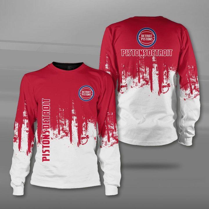 National basketball association detroit pistons full printing sweatshirt