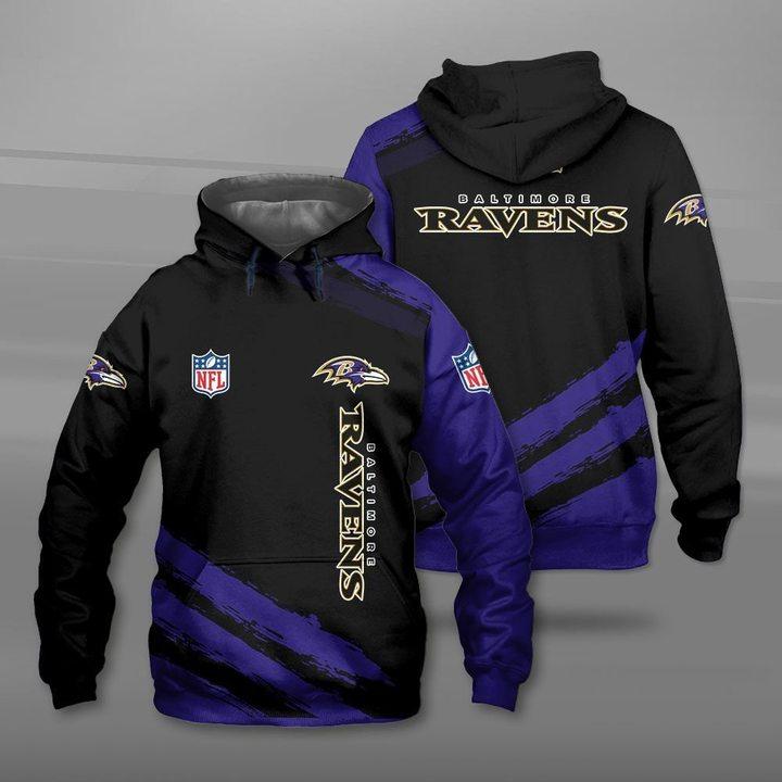 National football league baltimore ravens full printing hoodie