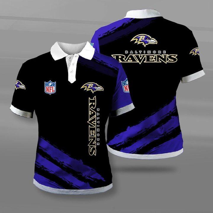 National football league baltimore ravens full printing polo