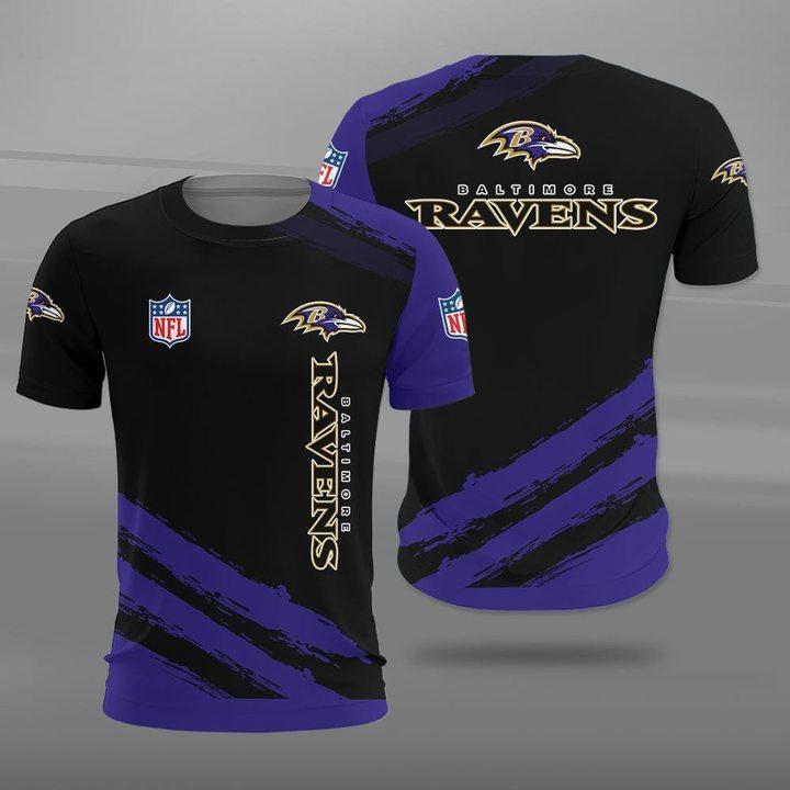 National football league baltimore ravens full printing tshirt