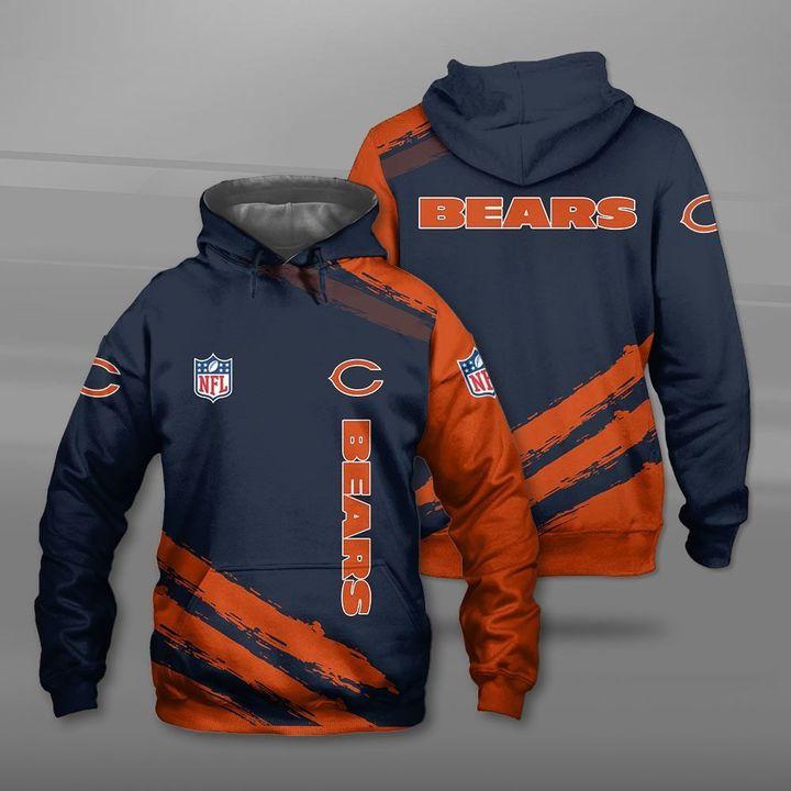 National football league chicago bears full printing hoodie