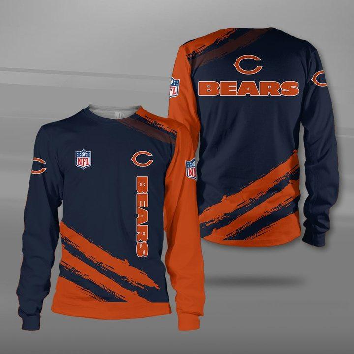National football league chicago bears full printing sweatshirt