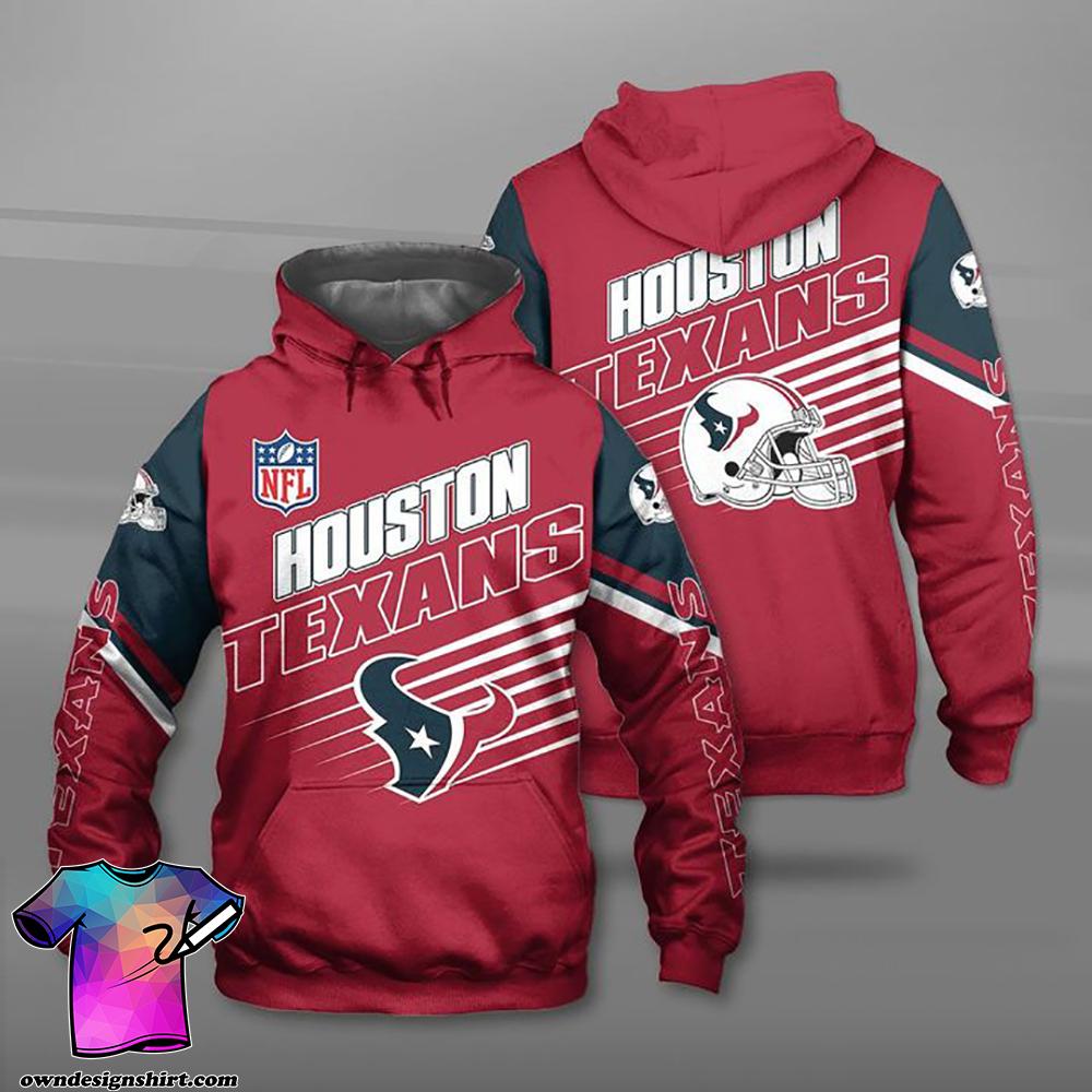 National football league houston texans full printing shirt