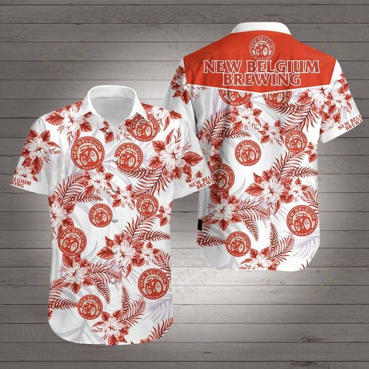 New belgium brewing company hawaiian shirt 4