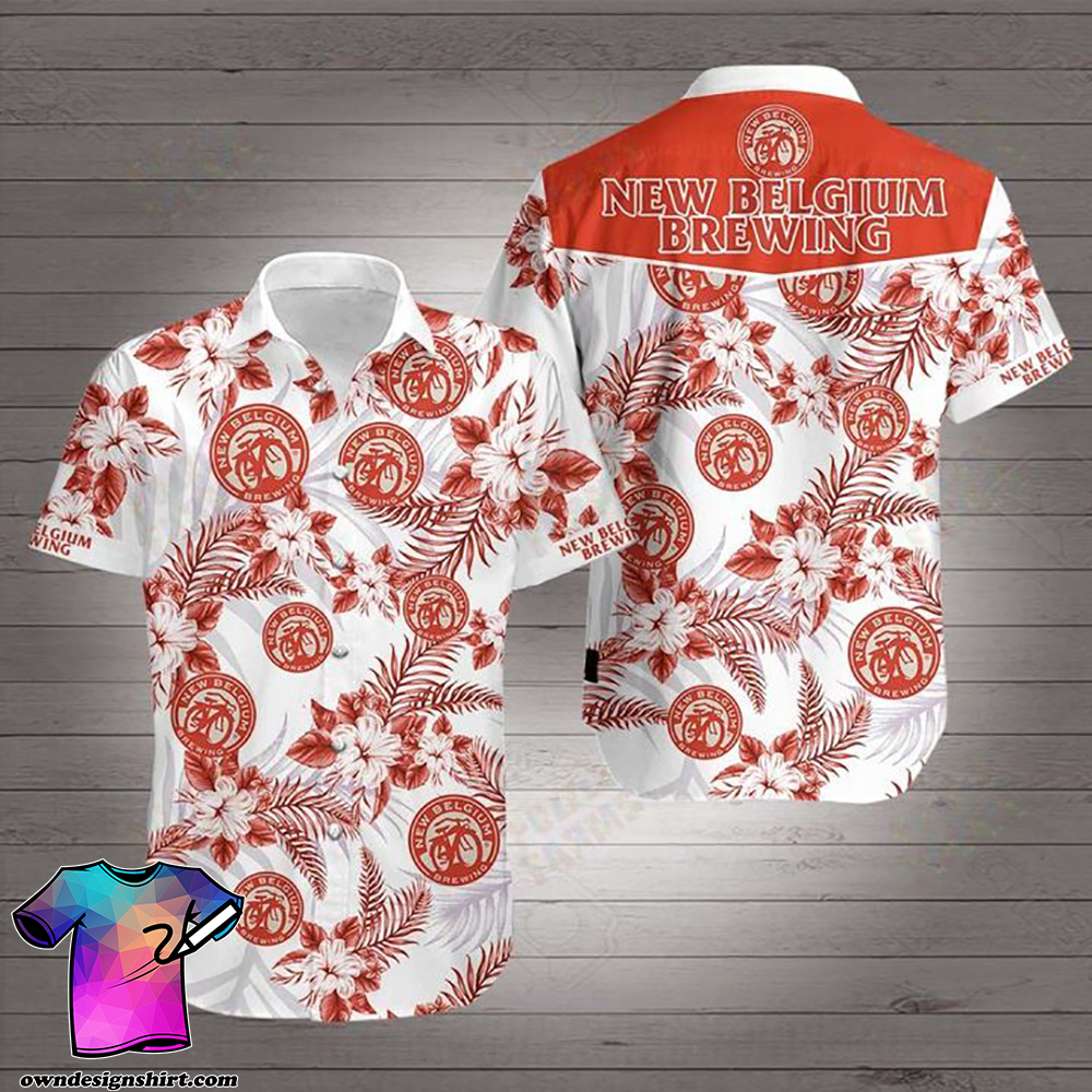New belgium brewing company hawaiian shirt