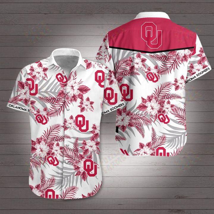 Oklahoma sooners hawaiian shirt 1