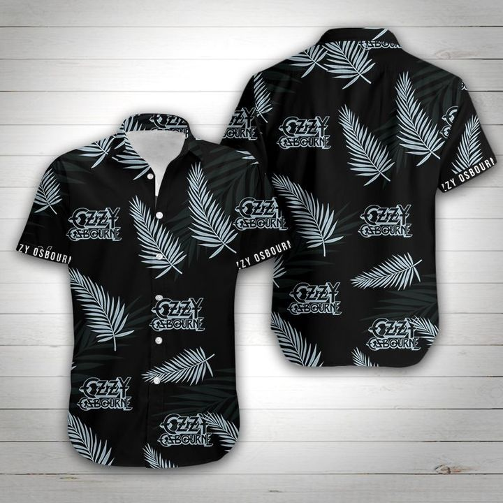 Ozzy osbourne tropical flower hawaiian shirt 2
