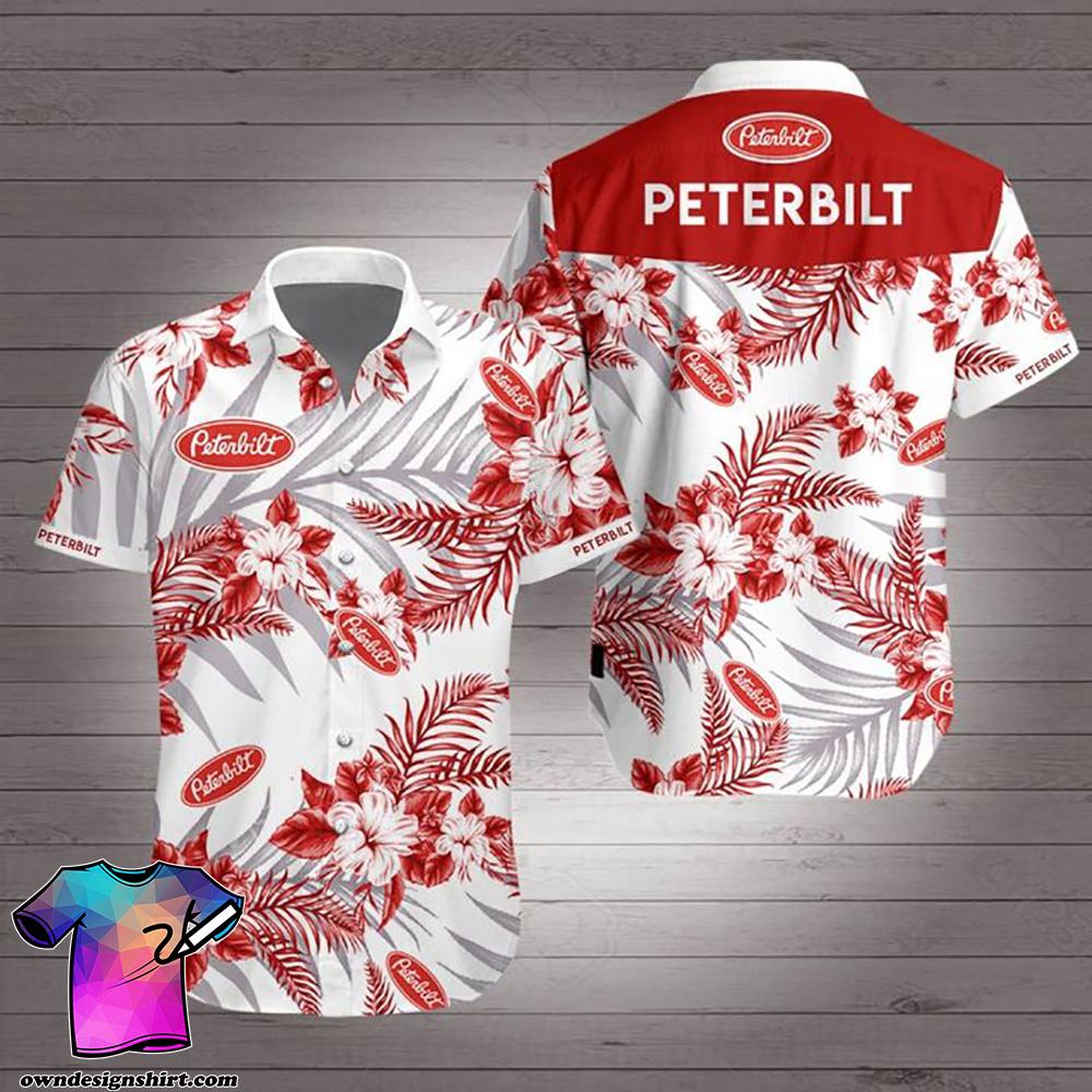 Peterbilt trucks hawaiian shirt