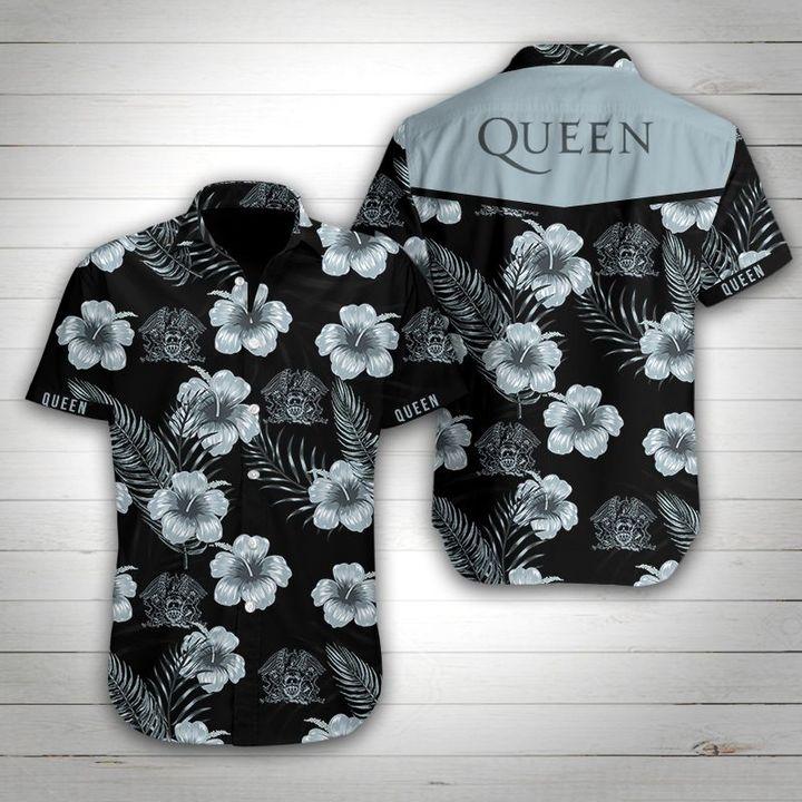 Queen rock band tropical flower hawaiian shirt 1