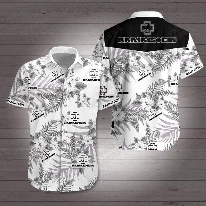 Rammstein rock band hawaiian shirt 3