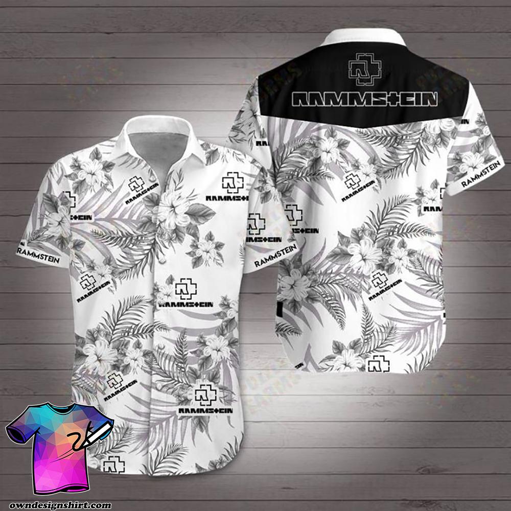 Rammstein rock band hawaiian shirt