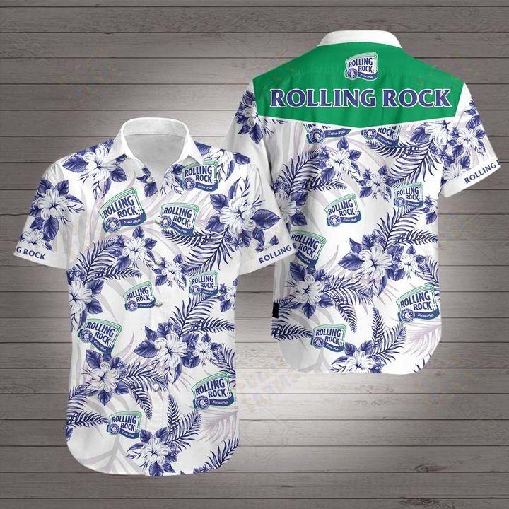 Rolling rock beer hawaiian shirt 1
