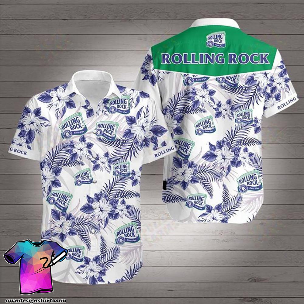 Rolling rock beer hawaiian shirt