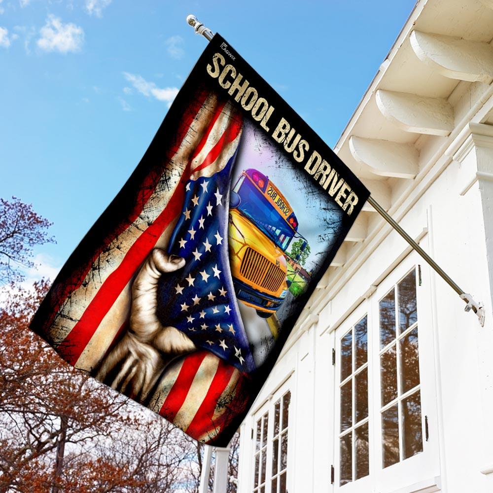 School bus driver flag 1