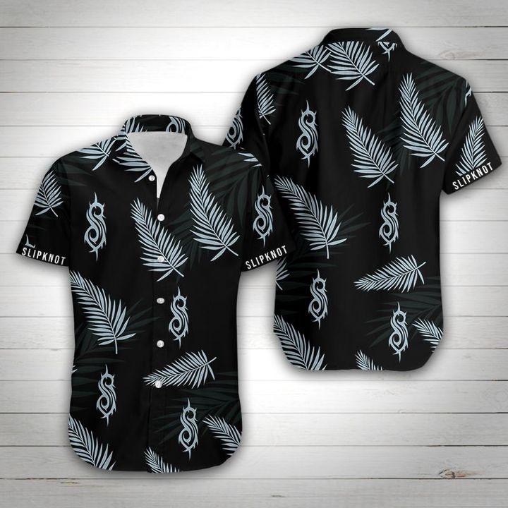 Slipknot rock band tropical flower hawaiian shirt 1
